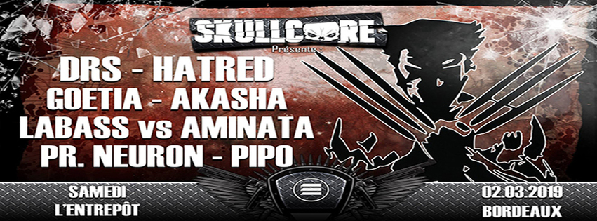 Skullcore : avec DRS + Hatred + Goetia + Akasha + Aminata vs Labass