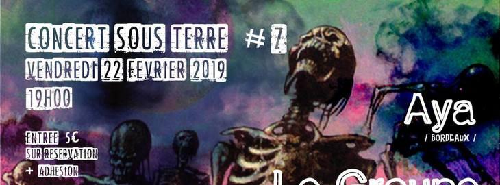 Concert sous terre #7 : avec Le Groupe Obscur + Aya