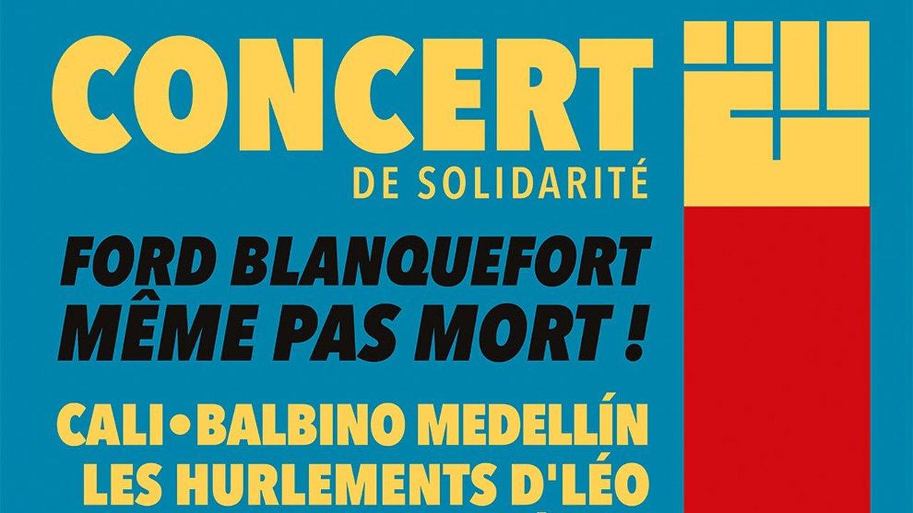Concert de soutien à Ford Blanquefort : avec Cali + Les Hurlements d