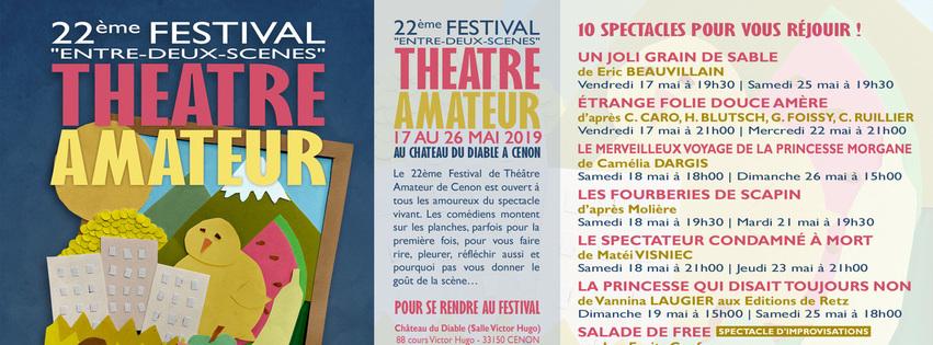 """22ème Festival """"Entre-Deux-Scènes"""" de Théâtre Amateur"""