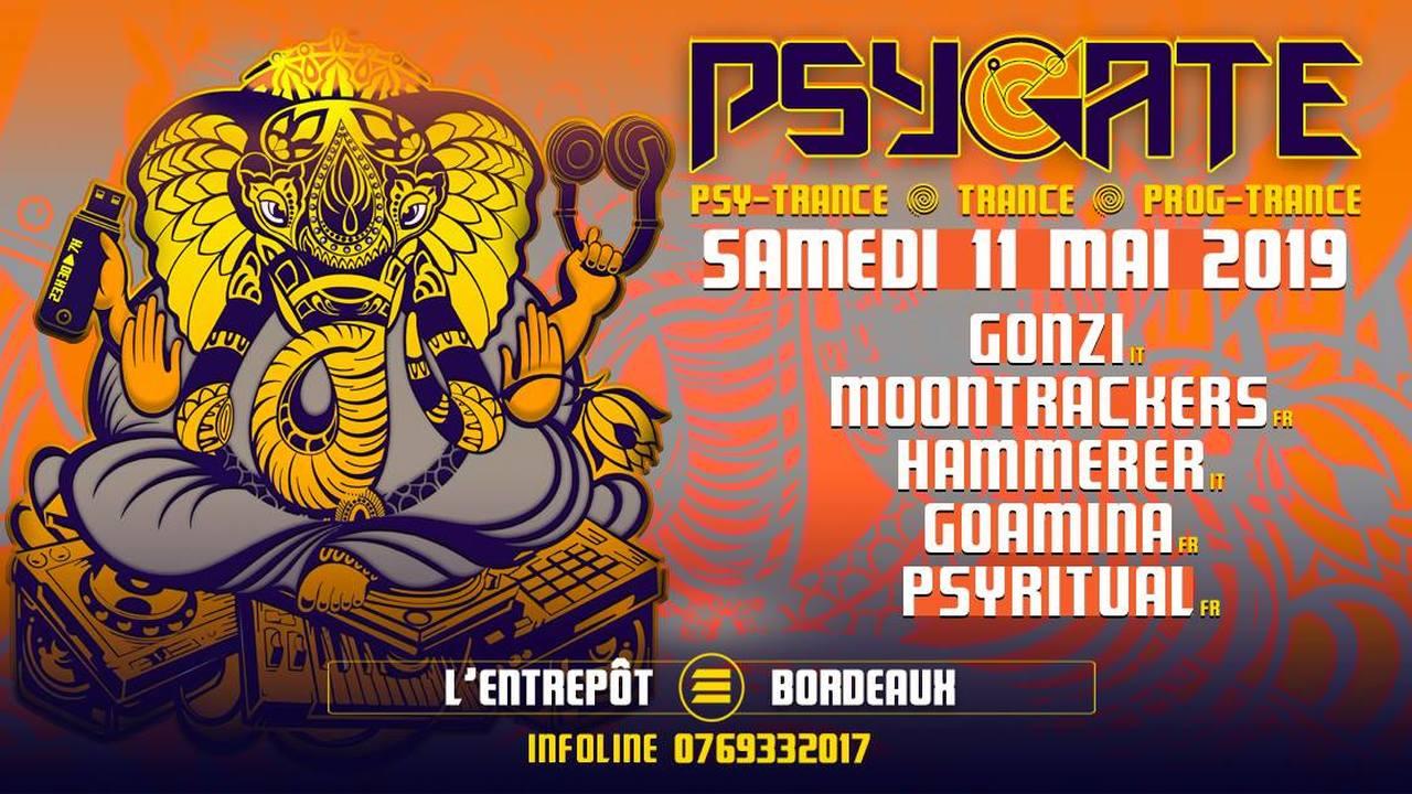 PSYGATE : avec MOONTRACKERS + GONZY + HAMERER + GOAMINA + PSYRITUAL