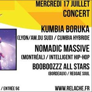 RELACHE #10 - KUMBIA BORUKA + NOMADIC MASSIVE + BOOBOOZZZ