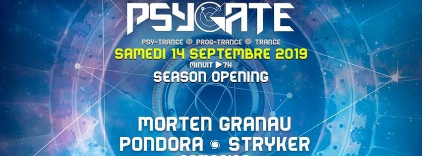 Psygate Season Opening - Morten Granau + Pondora + Stryker + Asmosias