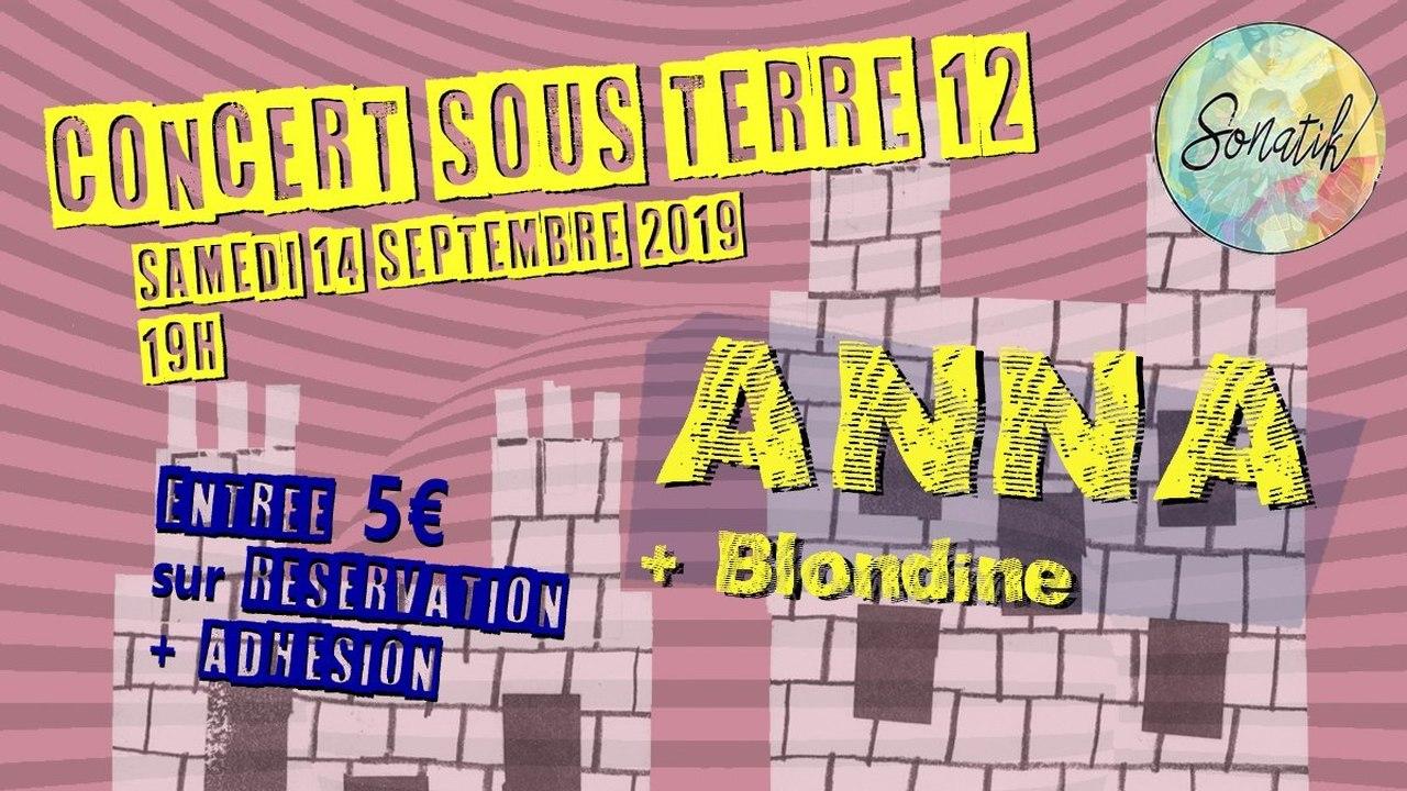 Concert sous terre #12 : Anna + Blondine