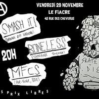 PUNX NIGHT : SMASH IT! + BONELESS + MFCS