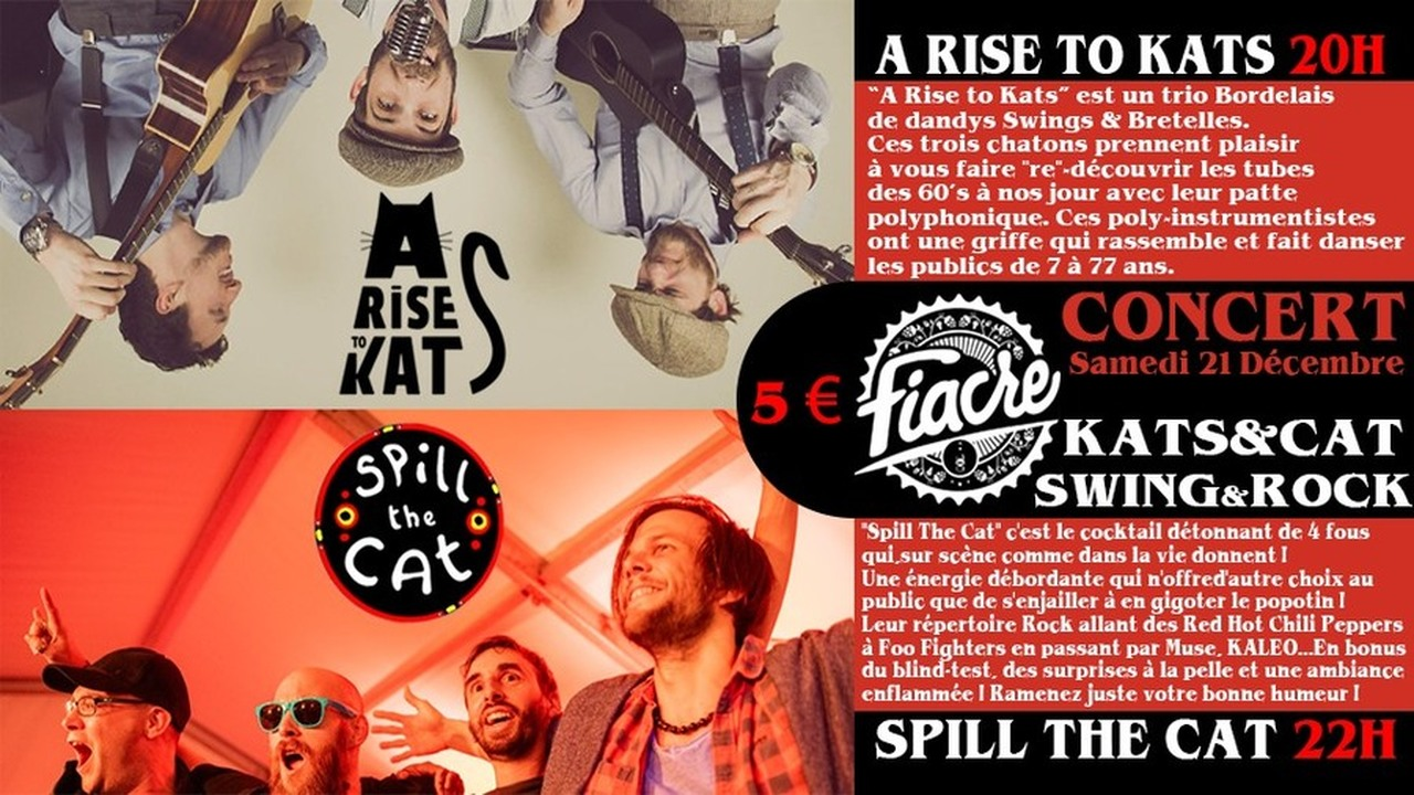 ROCK & SWING SHOW : SPILL THE CAT + A RISE TO KATS