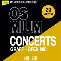 Osmium & guests + Open Mic