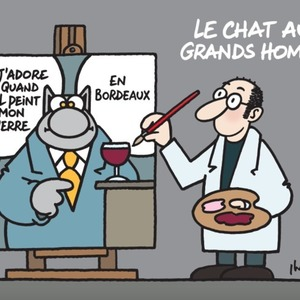 Philippe Geluck, Le Chat aux Grands Hommes
